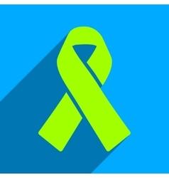 Solidarity Ribbon Flat Square Icon with Long vector