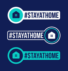 stay at home prevention covid-19 icon sticker vector image