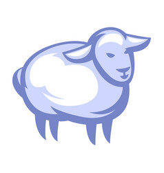 Stylized sheep vector