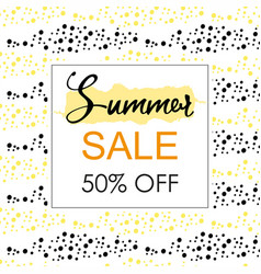 Summer sale layout banner vector