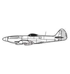 supermarine spitfire vector image