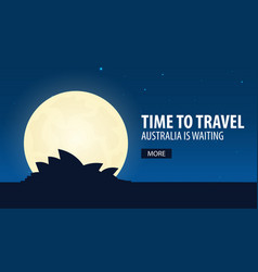 Time to travel travel to australia australia is vector