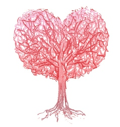 Tree heart vector