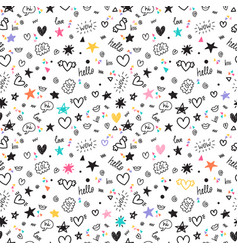 Trendy hand drawn background abstract seamless vector