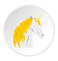 unicorn icon circle vector image
