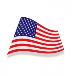 usa stars and stripes flag vector image