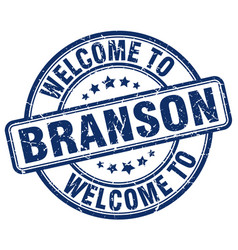 Welcome to branson blue round vintage stamp vector