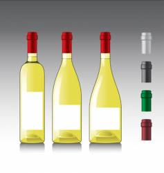 White wine bottles vector