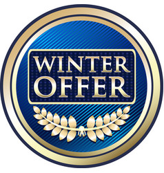 winter offer icon vector image