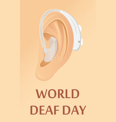 World deaf day in september concept rally vector