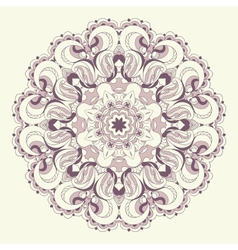 Beautiful purple lace pattern background vector image vector image