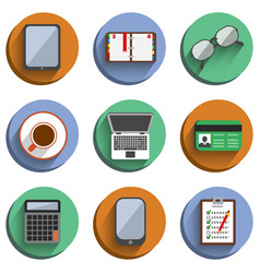 Business Set Workplace Icons vector image