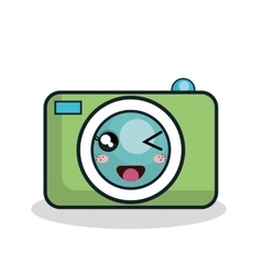 cartoon camera technology digital design vector image