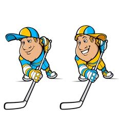 Cartoon Hockey Players Set vector image vector image