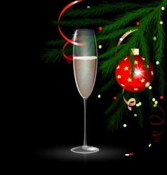 christmas champagne vector image