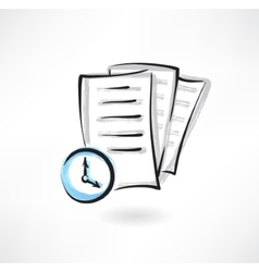 Document loading grunge icon vector image