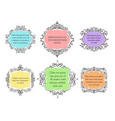handdrawn floral frame set vector image