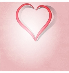 Painted brush heart shape background vector image vector image
