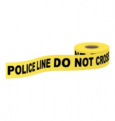 police tape with text vector image