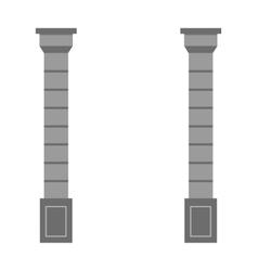 Set of ancient greek column pillar doric ionic vector image