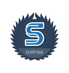 Surfing - Sports and Recreation Label or heraldic vector image vector image