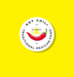 traditional mexican food emblem vector image vector image