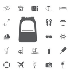 backpack icon summer set vector image vector image