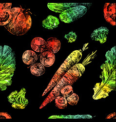 beautiful hand drawn vegetable vector image vector image