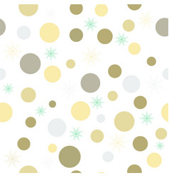 christmas background with colored circles and vector image