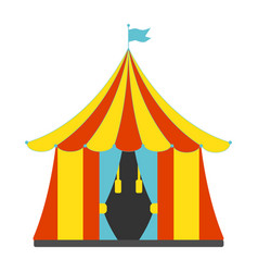 circus tent flat icon vector image