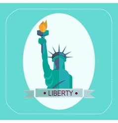 NEW YORK STATUE OF LIBERTY ICON FLAT vector image