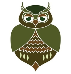 Owl icon1 resize vector image vector image