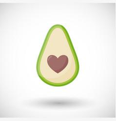 avocado love flat icon vector image