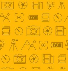 different line style icons seamless pattern icons vector image vector image