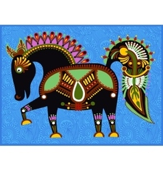 Ethnic folk animals in ukrainian traditional vector