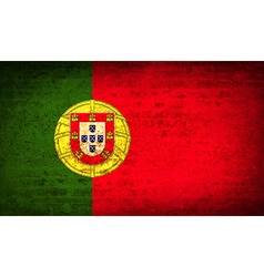 Flags Portugal with dirty paper texture vector image vector image