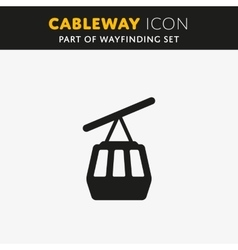 Funicular cableway icon vector image vector image