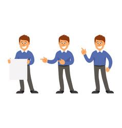set of advertising men vector image