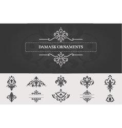 Set of Damask Ornaments II vector image