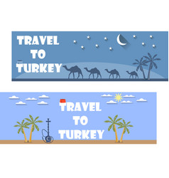 welcome to turkey banner in a flat style vector image vector image