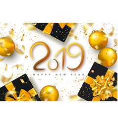 2019 happy new year background for holiday vector image