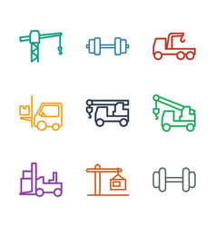 9 lift icons vector