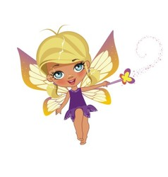 A beautiful fairy isolated on a white background vector image