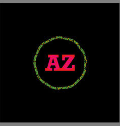 A z joint letter logo creative design vector