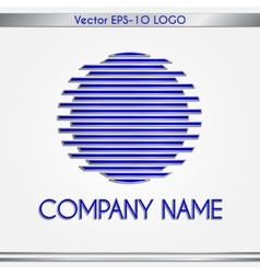 Abstract company name blue and silver round logo vector