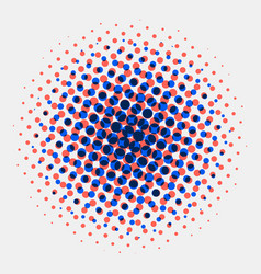 abstract spotted halftone circles radial blue vector image