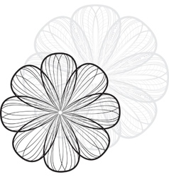Abstract striped flower background vector