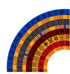 African adinkra background vector