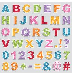 Alphabet stickers vector