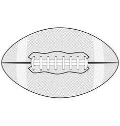 An american football ball isolated in white vector